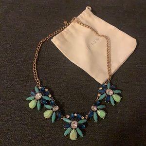 JCrew Statement Necklace - Blue/Green Stones